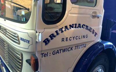 Britaniacrest Recycling– vehicle signwriting