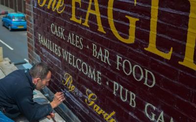 The Eagle – pub exterior sign