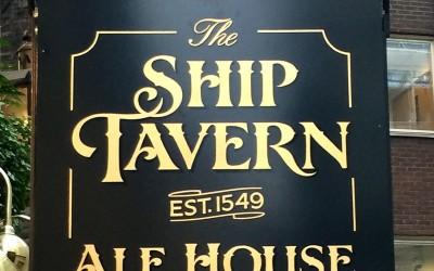 The Ship Tavern – pub signage